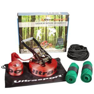 Slackline kaufen Ultrasport Set für Anfänger